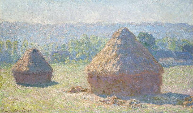 Heuhaufen, Claude Monet von 1000 Schilderijen
