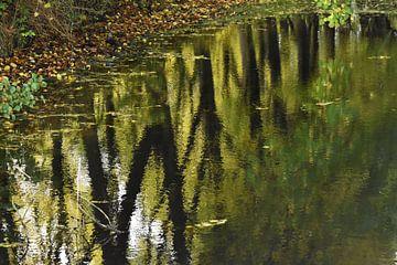 Herfst weerspiegeling / Autumn reflection van Henk de Boer