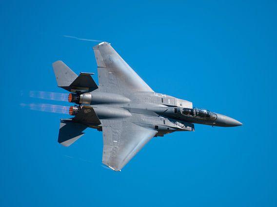Strike Eagle F-15 fly by van Bob de Bruin