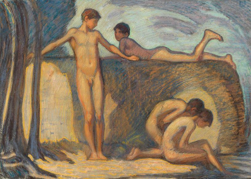 Badende Knaben, LUDWIG VON HOFMANN, Ca. 1912 von Atelier Liesjes
