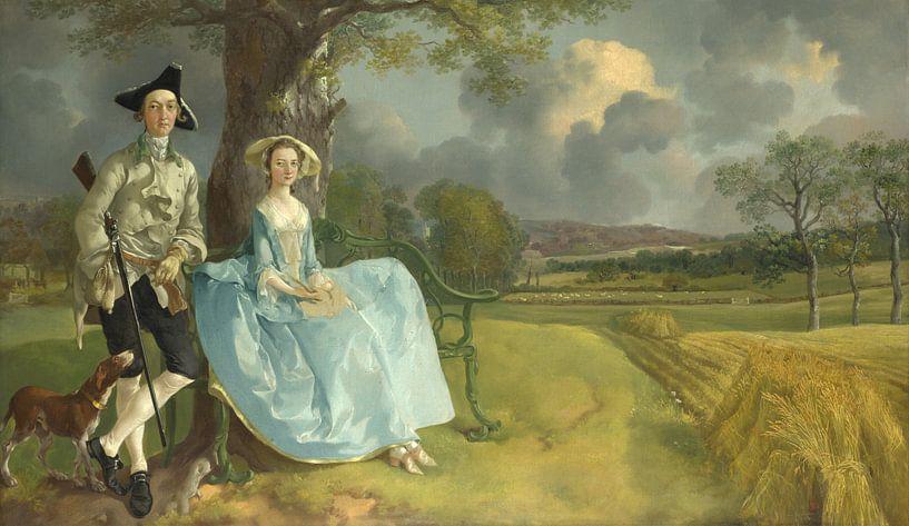 Mr. und Mrs. Andrews, Thomas Gainsborough von Meesterlijcke Meesters