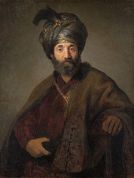 Rembrandt, Man in Oriental Costume sur