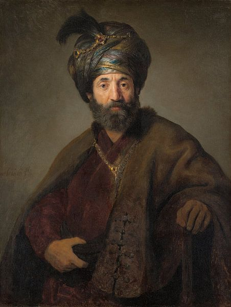 Man in Oriëntaals Kostuum, Rembrandt, Govert Flinck van Diverse Meesters