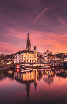 Zonsondergang in Breda van Jesper Stegers