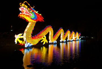 Gekleurde draak op het water van Brian Morgan