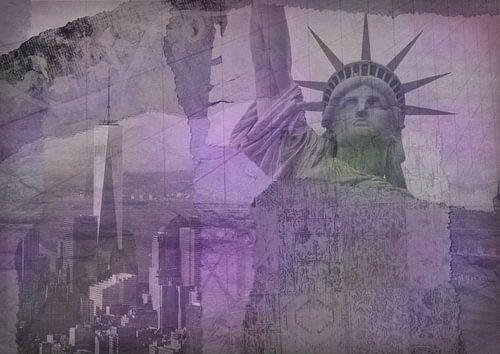New York city Collage, violet (pour les autres couleurs, voir les collages de l'album)
