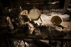 Gasmasken in Tschernobyl von Kimberley Niemeijer