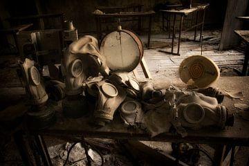 Gasmaskers in Tsjernobyl van Kimberley Niemeijer