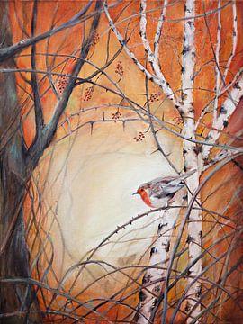"""robin zwischen den Zweigen... """"Hoffnung bringen"""" von Els Fonteine"""