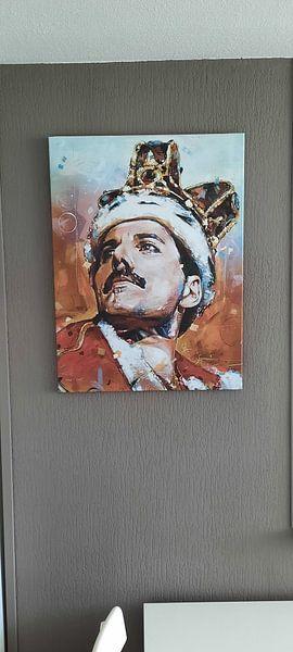 Kundenfoto: Freddie Mercury malerei von Jos Hoppenbrouwers