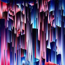Abstrakte Stadtsilhouette XI von Maurice Dawson