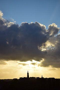 Zonsondergang Amersfoort von Bert Veldman