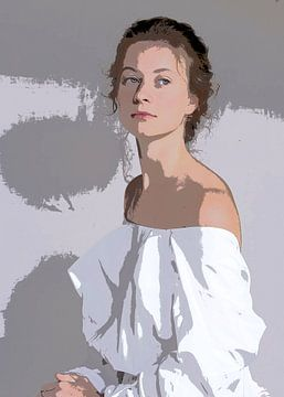 Mylady in het wit