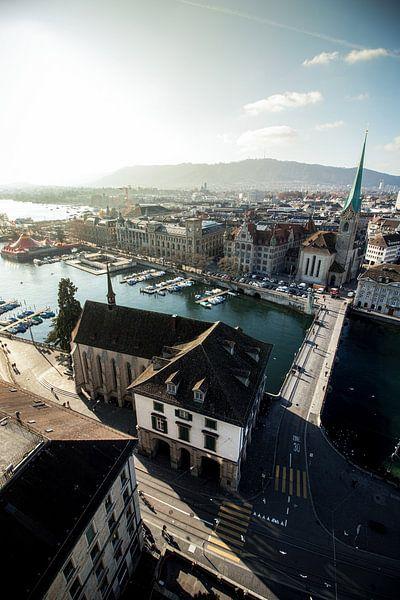 Oude stad Zürich, Zwitserland van Munich Art Prints