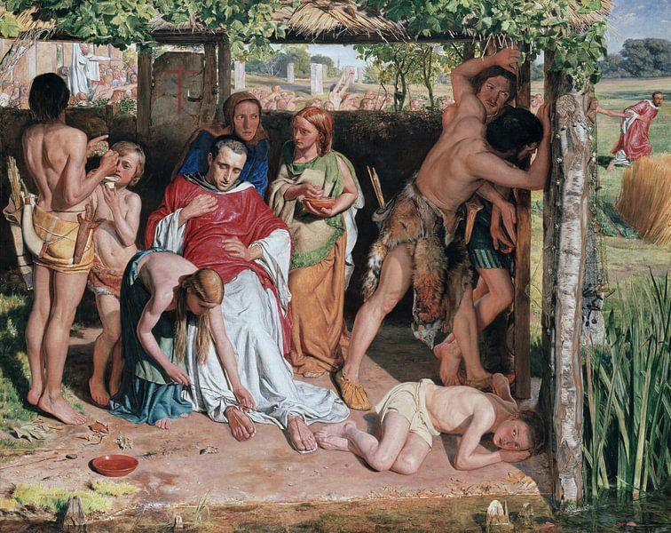 William Holman Hunt - A Converted British Family van 1000 Schilderijen