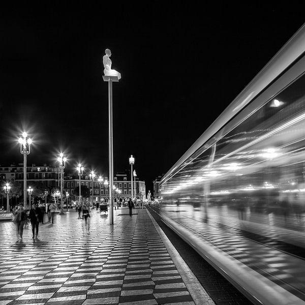 NICE, de Place Masséna | zwart-wit  van Melanie Viola