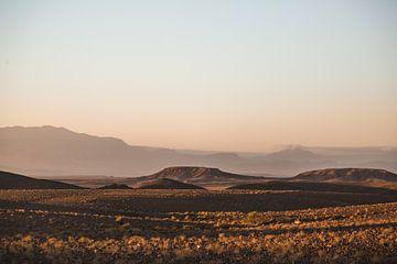 Zonsondergang in Marokkaanse Woestijn van Jarno Dorst