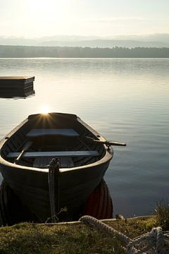 Bootje op het Siljanmeer van marcel schoolenberg