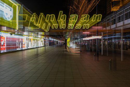 De verlaten Lijnbaan in Rotterdam Centrum