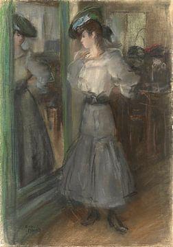 Mädchen vor dem Spiegel, Isaac Israels
