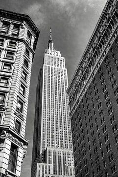 Empire State Building, New York City (schwarzweiß) von Sascha Kilmer