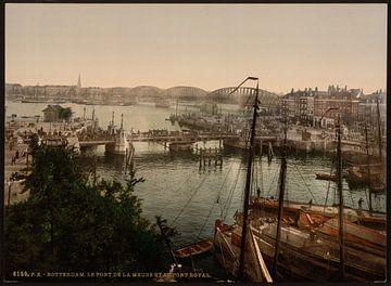 Bruggen over de Maas, Rotterdam von Vintage Afbeeldingen