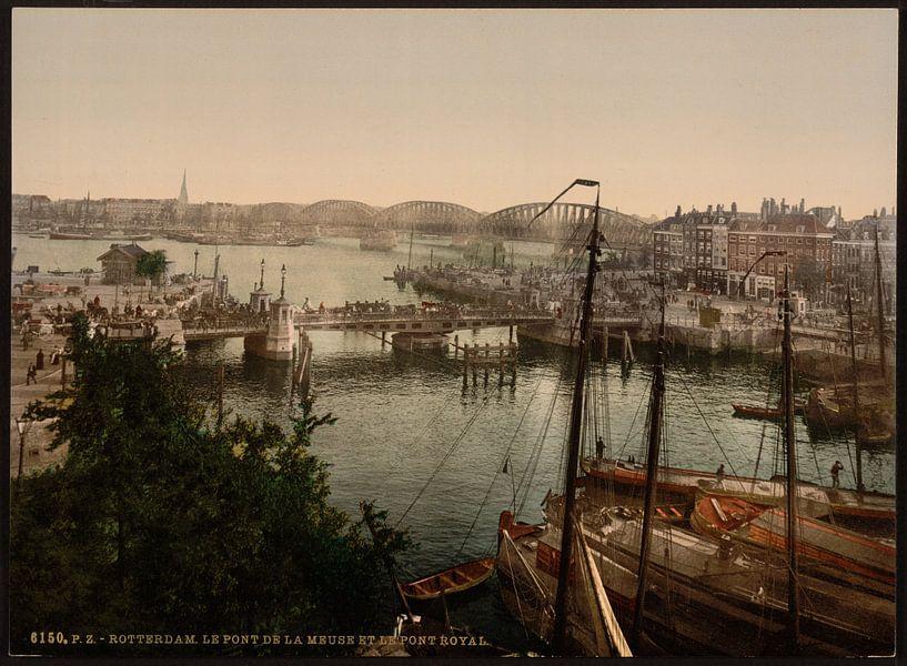 Bruggen over de Maas, Rotterdam van Vintage Afbeeldingen