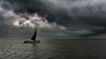 Zeilschip  op IJsselmeer van Irene Kuizenga