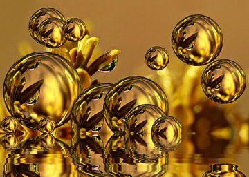 Golden Bubbles van Gabi Siebenhühner
