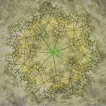 Mandala chique, oker van Rietje Bulthuis