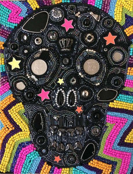 Sugar Skull kraaltjes van Esther  van den Dool