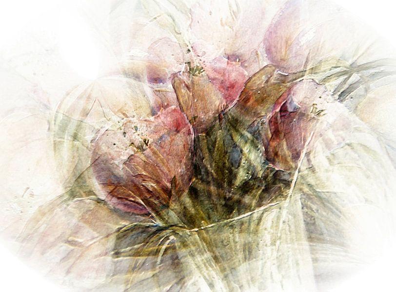 Roze tulpen van Christine Nöhmeier