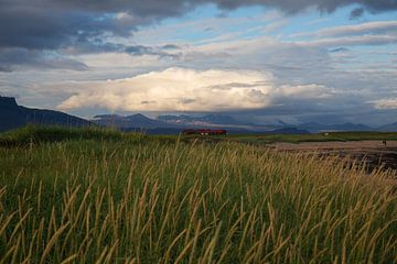 Bauernhof in isländischer Prärie von Summer van Beek
