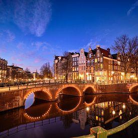 Le canal d'Amsterdam sur Peter de Jong