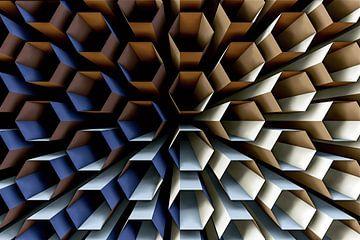 symmetrie in hexagon van W J Kok