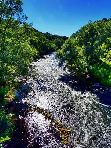 Fluss Lippe 1 van Edgar Schermaul