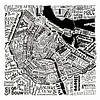 Amsterdam,  typografische plattegrond met A'dam toren van Muurbabbels Typographic Design thumbnail