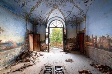 Verlaten Papegaaien Fresco. van Roman Robroek