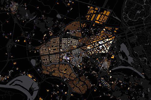 Kaart van Wijchen abstract van