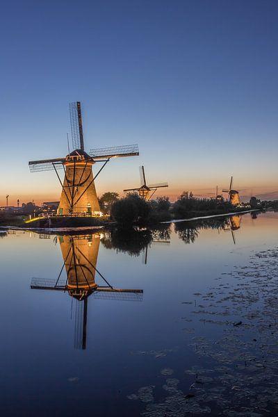 Illuminated windmills at Kinderdijk 2013 - part two