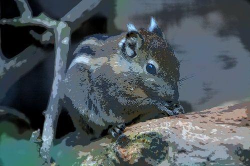Tamiops eekhoorn (striptekening)