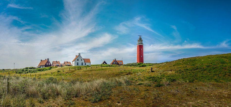 Vuurtoren Eierland Texel overdag  van Texel360Fotografie Richard Heerschap