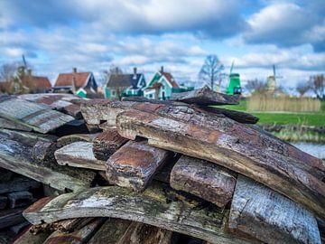 Hollands landschap met molens von RJH van de Kimmenade