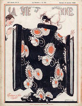 Jugendstil tijdschrift omslag La Vie Parisienne 14 Januari 1922 van Martin Stevens