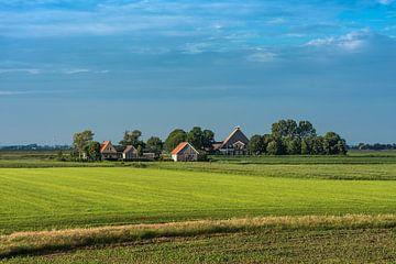 Landschap Friesland ten noorden van Workum in het avondlicht von Harrie Muis