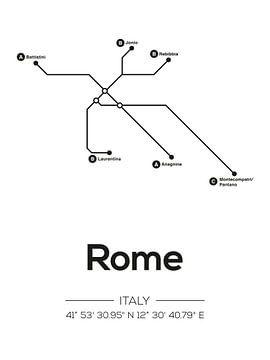 Lignes de métro de Rome sur