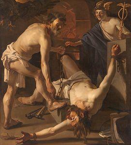 Prometheus angekettet von Vulkanier, Dirck van Baburen, 1623