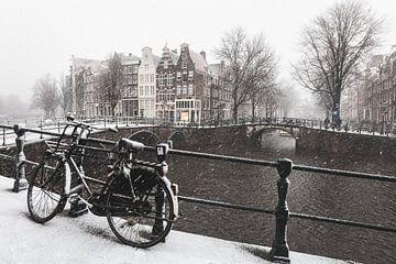 Amsterdam in de sneeuw von Mark Wijsman
