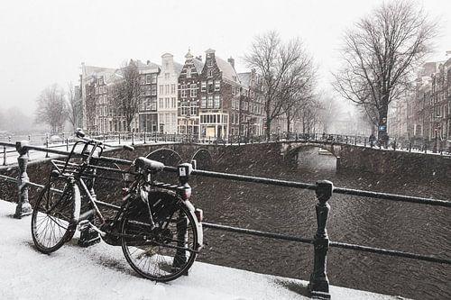 Amsterdam in de sneeuw van Mark Wijsman