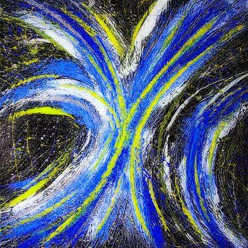 Modernes, abstraktes digitales Kunstwerk - Stars werden sich für uns verschwören (Teil 3) von Art By Dominic